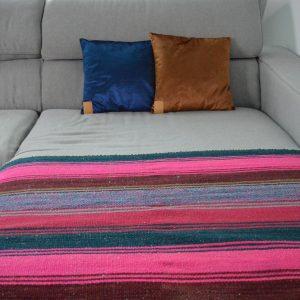 Frazada striped vibrant