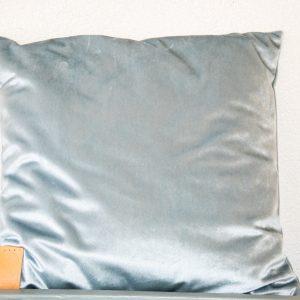 Velvet Kussen blauw – grijs