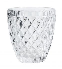 Drinkglas diamantpatroon