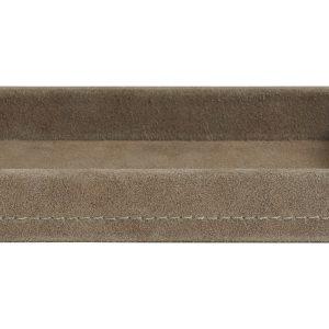 Suede tray grijs- small