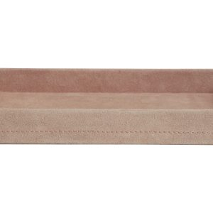 Suede tray roze – large