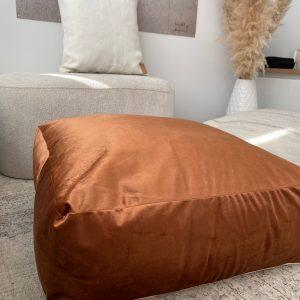 Poef Luxury Velvet Koper